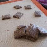 Garlic Parmesan Flax Seed Crackers