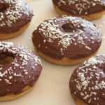 Coconut Flour Low Carb Donuts with Chocolate Icing