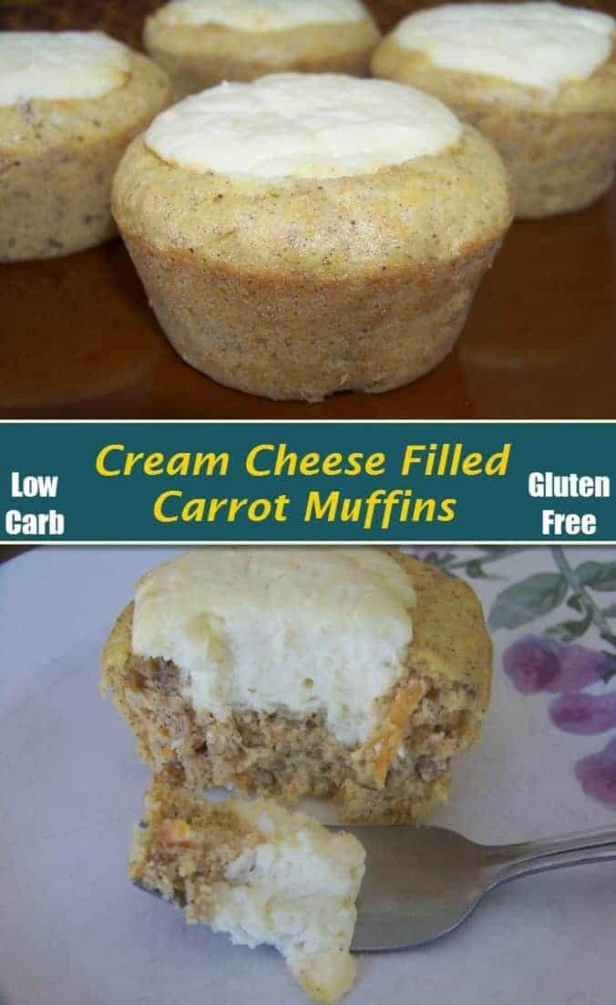 Cream Cheese Filled Carrot Muffins Low Carb Yum