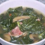 Kale Soup with Sausage and Mushroom