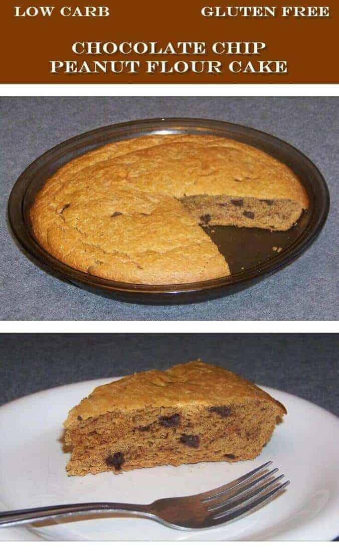 Chocolate chip cake peanut flour recipe