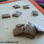 Garlic Parmesan Flax low carb crackers