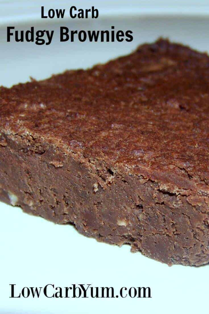 Fudgy low carb black bean brownies made with soybeans. The recipe is quick to prepare so you'll be enjoying this low sugar chocolate treat in no time. | LowCarbYum.com