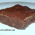 Fudgy low carb black bean brownies