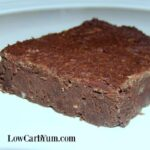 Fudgy low carb black bean brownies