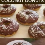 Low carb gluten free chocolate iced coconut donuts