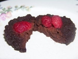 Sugar Free Low Carb Flourless Chocolate Raspberry Cake
