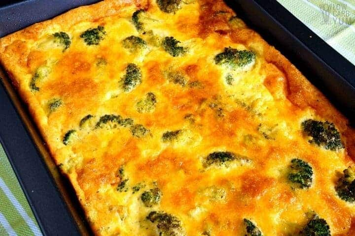 Keto low carb broccoli egg casserole