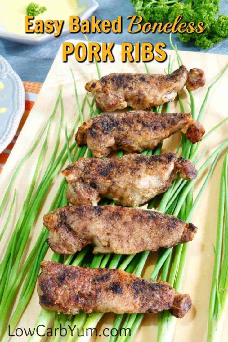 Here's how to cook boneless pork ribs in the oven. With very little effort, you'll have this easy low carb baked boneless pork ribs meal ready to serve.
