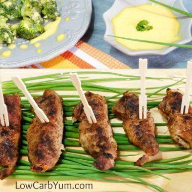 Easy low carb baked boneless pork ribs