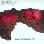 Keto mini flourless chocolate cake