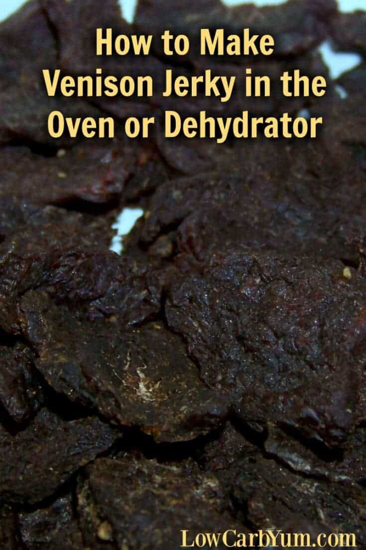 Many commercially prepared meat jerky contain sugar in the marinade. Making your own beef or venison jerky in the oven or dehydrator is well worth it. | LowCarbYum.com