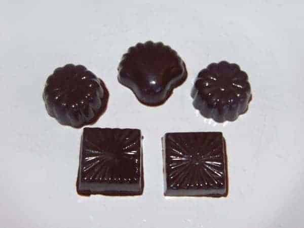 Molded Sugar Free Chocolate Candies with Leftover Chocolate
