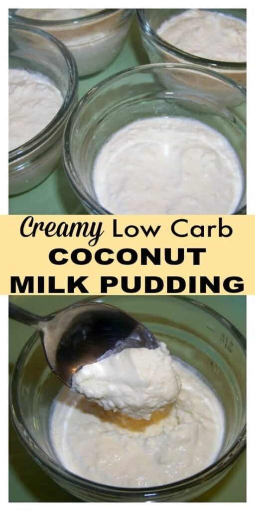 In search of a traditional style low carb pudding, I've finally found it. This creamy coconut milk pudding is made with coconut milk and cream cheese.