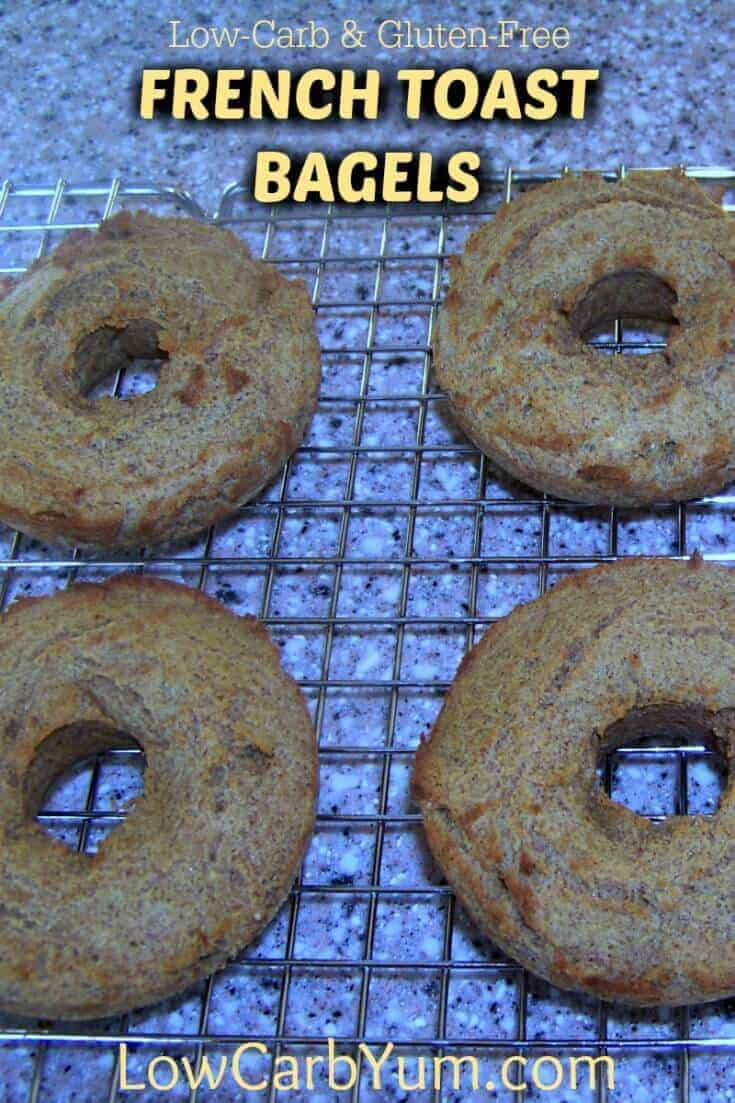 Low carb gluten free French toast bagels