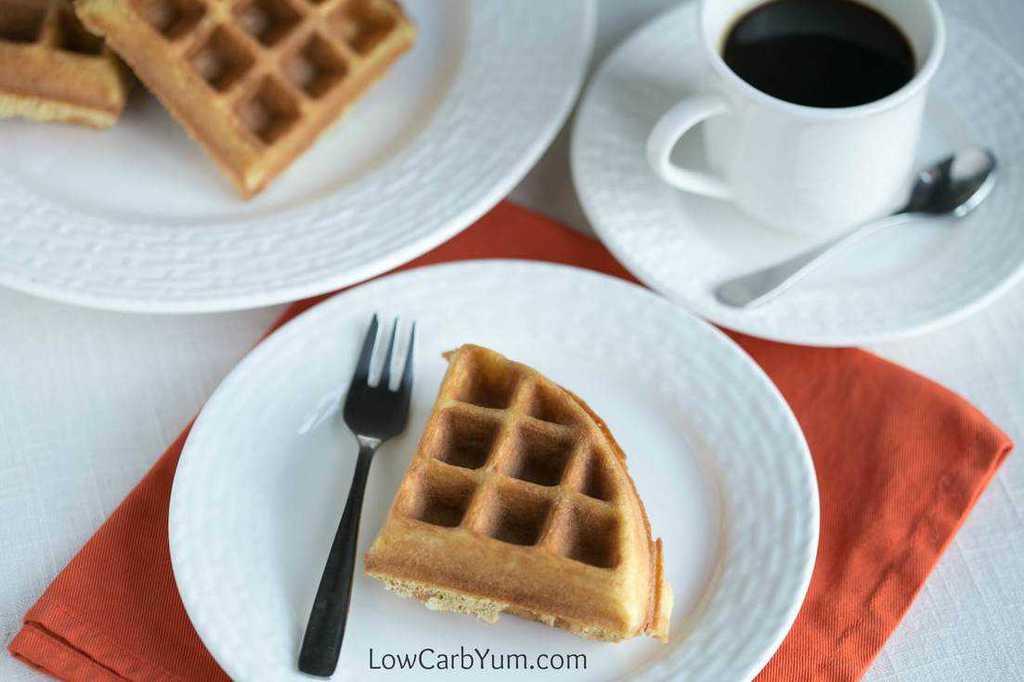 serving waffles