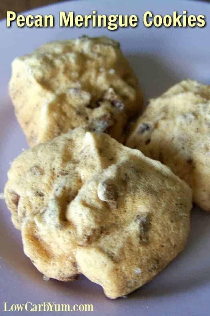 Pecan meringue cookies