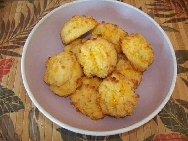 Coconut Flour Garlic Cheese Biscuits