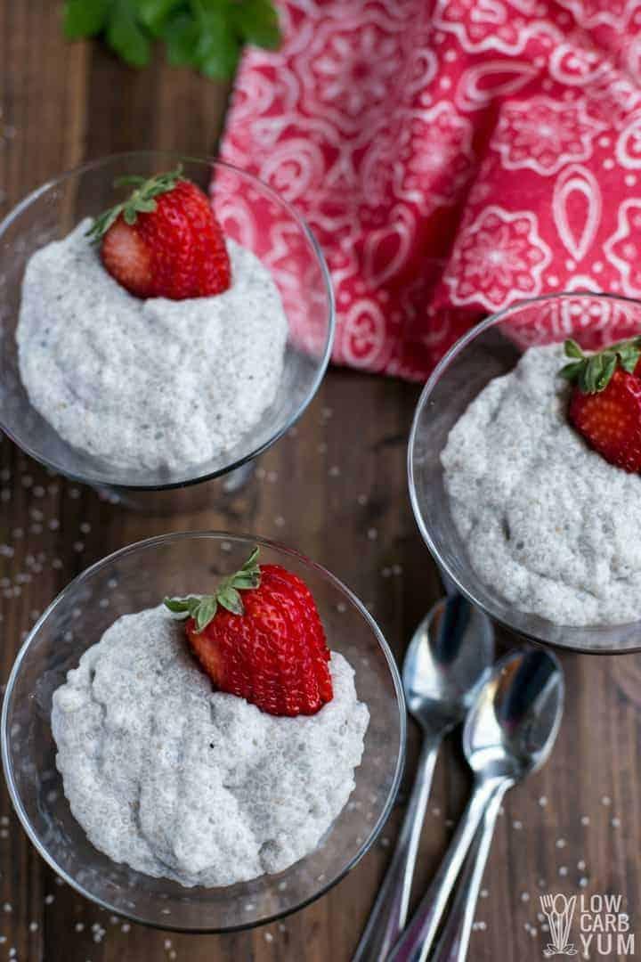 Easy vanilla keto chia seed pudding