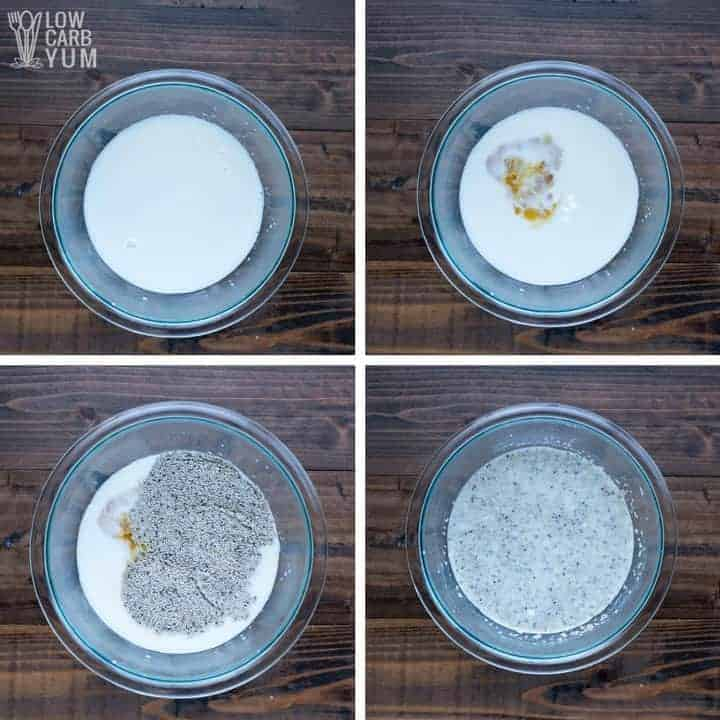 How to make a simple vanilla keto chia seed pudding