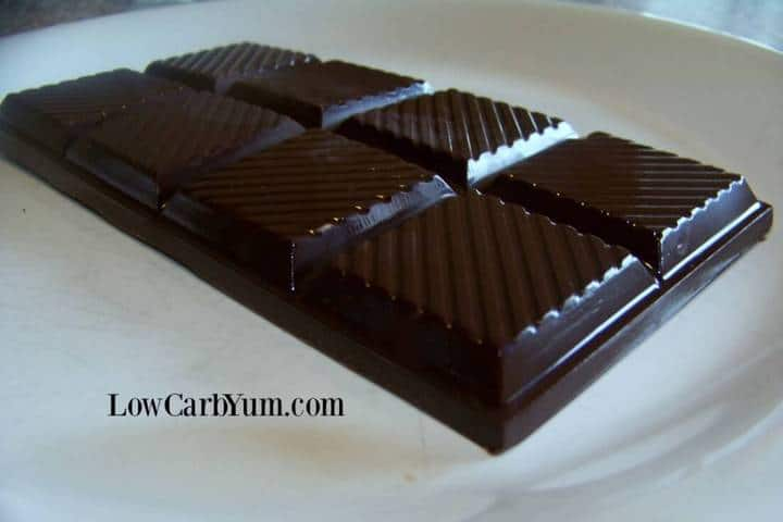 Low carb homemade chocolate bars