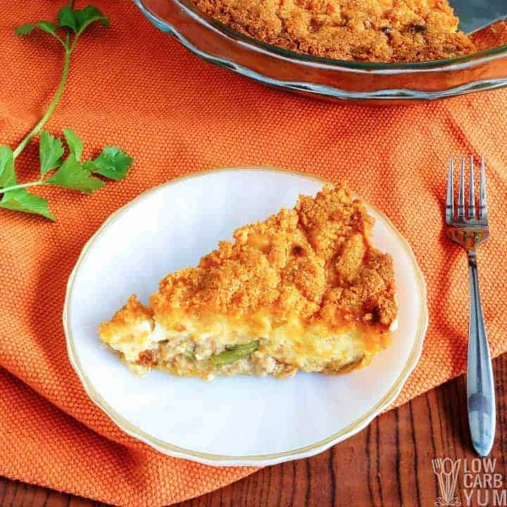 Easy low carb tuna pie