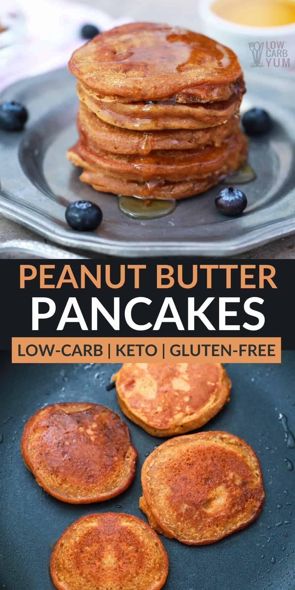 peanut butter pancakes pinterest image