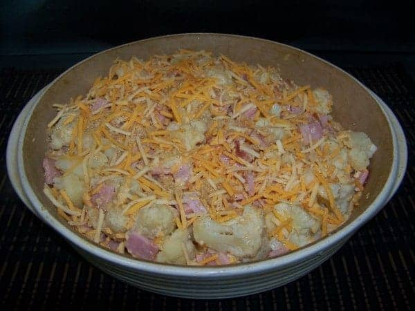 Low Carb Ham and Cauliflower Casserole