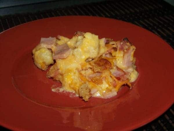Quick and Easy Ham and Cauliflower Casserole
