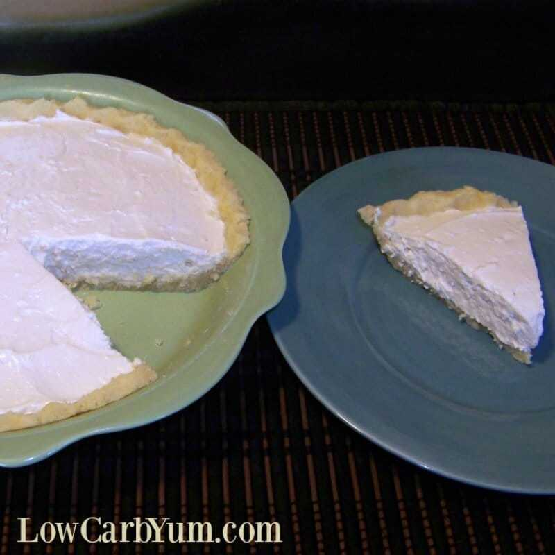 Key Lime Pie with Cream Cheese and Almond Flour Crust