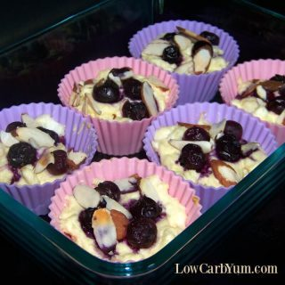 Blueberry Cheese Muffin Recipe with Sliced Almonds