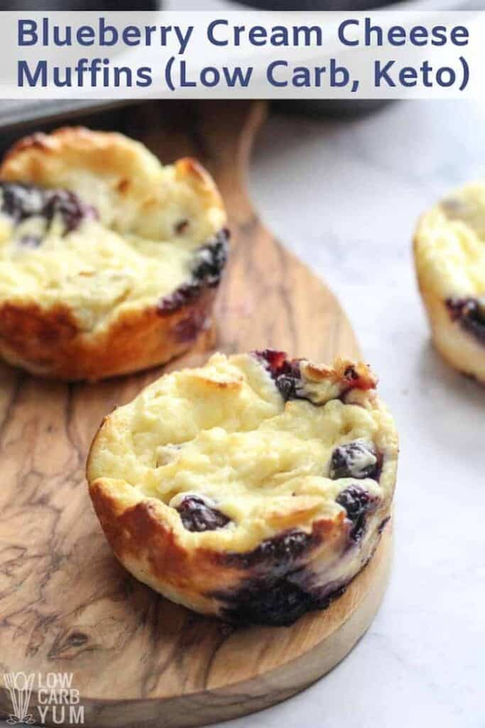 Blueberry Cream Cheese Muffins Low Carb Keto