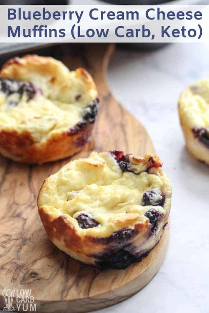 Blueberry Cream Cheese Muffins (Keto) | Low Carb Yum