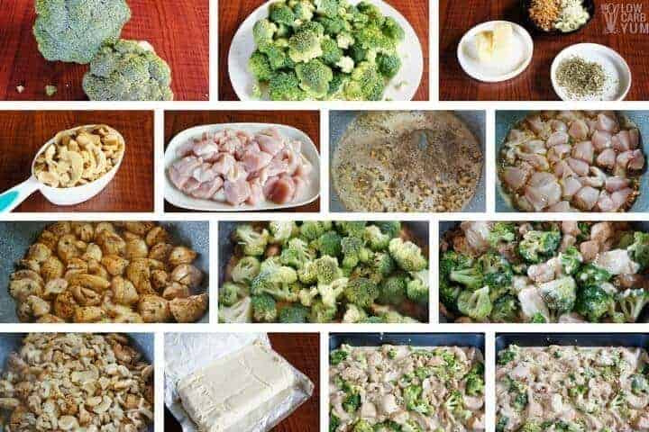 How to make low carb broccoli casserole with cream cheese and chicken