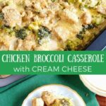 Low carb broccoli casserole with cream cheese and chicken recipe
