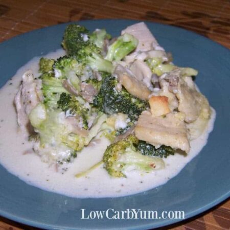 Low carb chicken broccoli casserole with cream cheese
