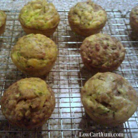 Coconut flour zucchini bread muffins