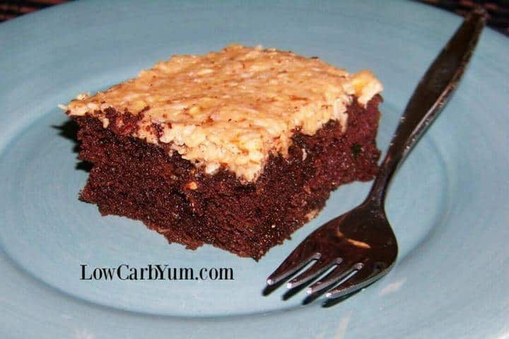 German Chocolate Zucchini Cake | Low Carb Yum
