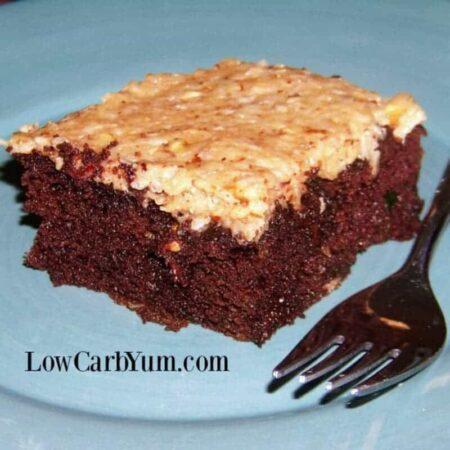 Gluten free German chocolate cake zucchini