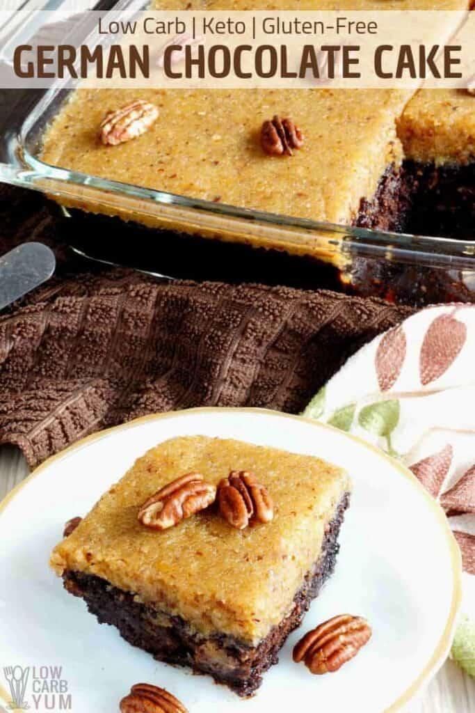 Low Carb Keto Gluten-Free German Chocolate Cake with Zucchini Recipe