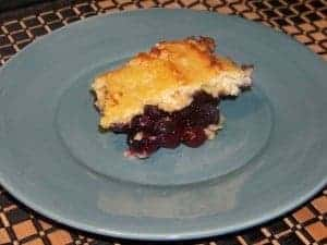 Low Carb Blueberry Cobbler with Coconut Flour Topping