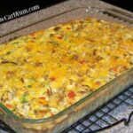 Baked vegetable crabmeat casserole