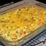 Baked vegetable crabmeat casserole