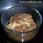 Low sugar mock apple zucchini crisp recipe