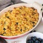 Baked paleo blueberry berry cobbler