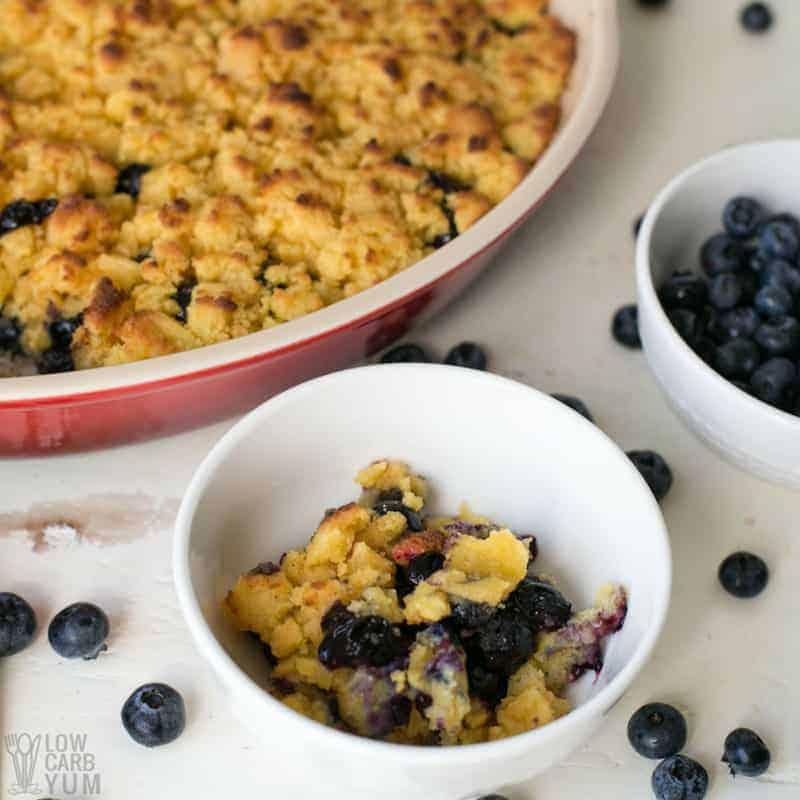 Paleo Berry Cobbler Blueberry Dessert Gluten Free Low