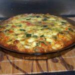 Zucchini quiche with Carbquik pie crust