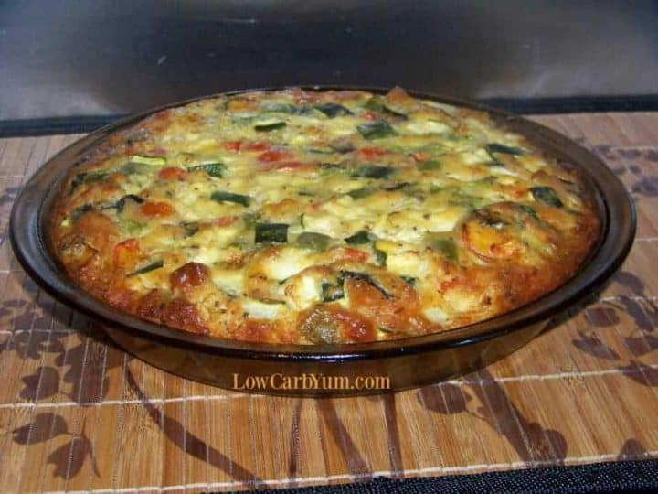Easy Zucchini Quiche with No Fuss Carbquik Pie Crust | Low Carb Yum