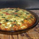 Zucchini quiche with Carbquik pie crust