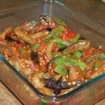 Eggplant and Peppers in Tomato Sauce